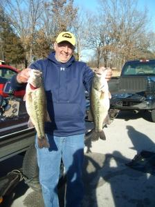 Steve Anderson 5.11lb & 4lb plus Largemouth Bass on Table Rock (Feb. 2013)